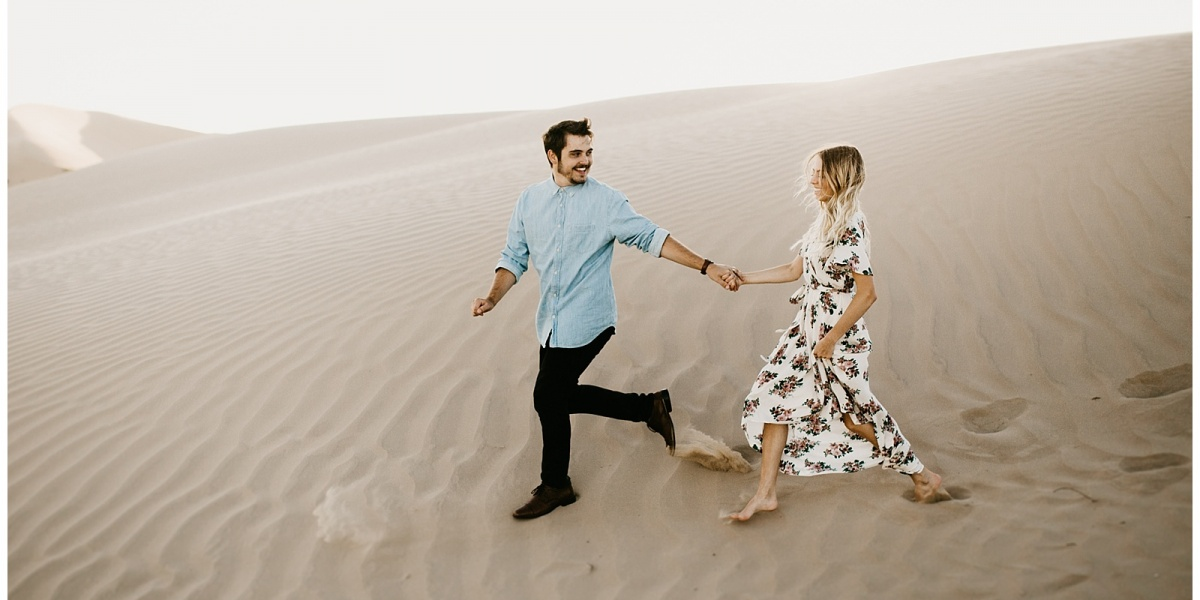 Elise and Kade, Desert Sand Dune Engagements