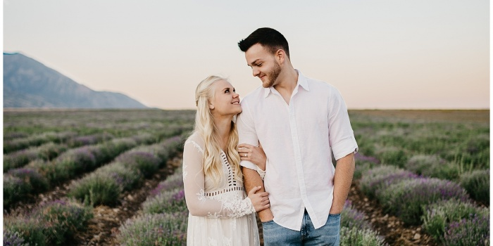 Kenzie and Trevor, Lavender Field Engagements