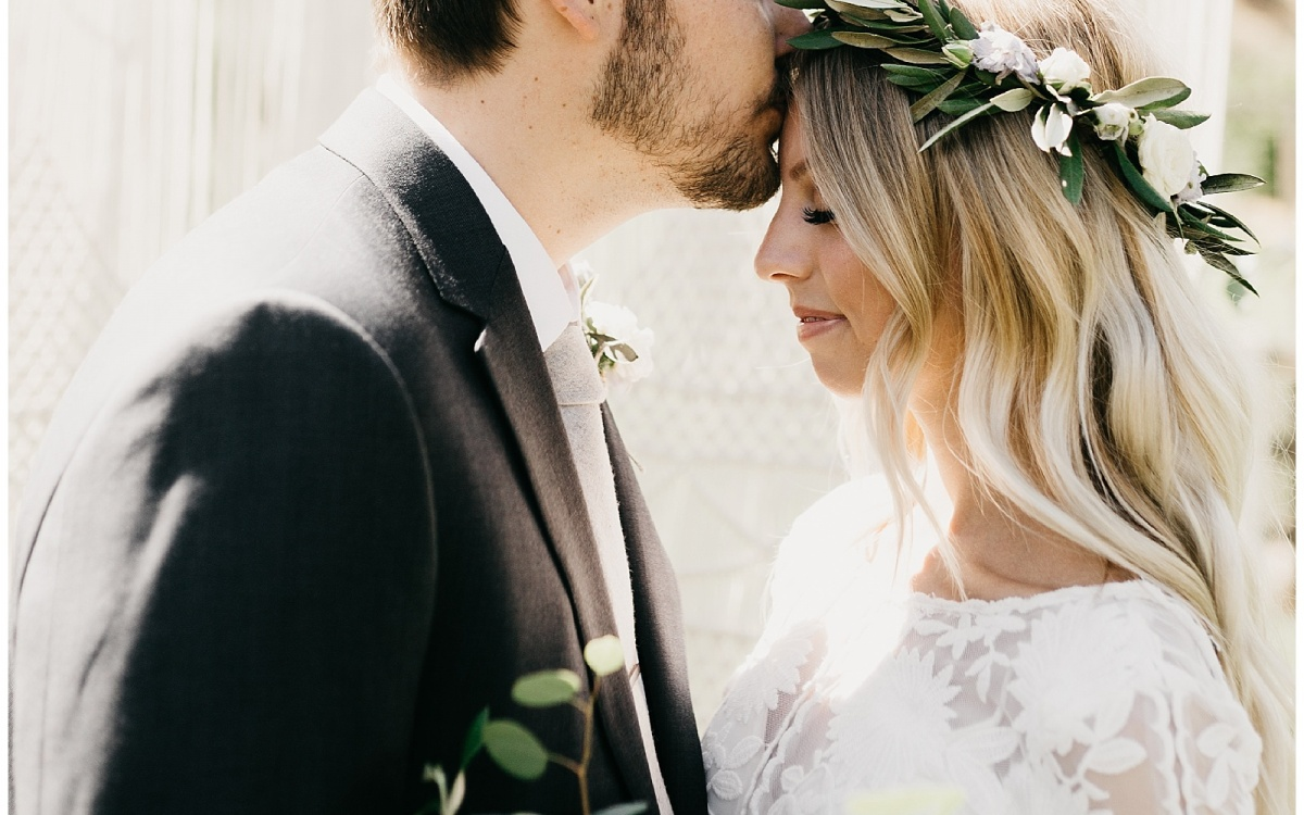 Elise and Kade, Boho Backyard Utah Wedding