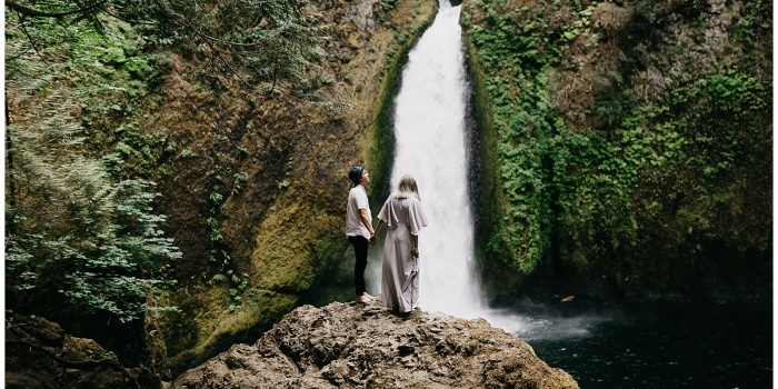 Eden and Paul, Couple's Session at Wahclella Falls, Oregon