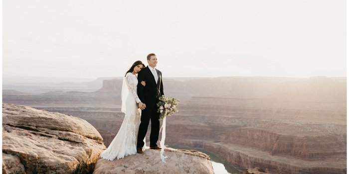 Allyson and Scott, Dead Horse Point Moab Bridals