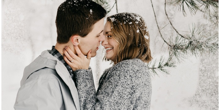 Olivia and Brandon, Snowy Couple's Session in Provo, Utah