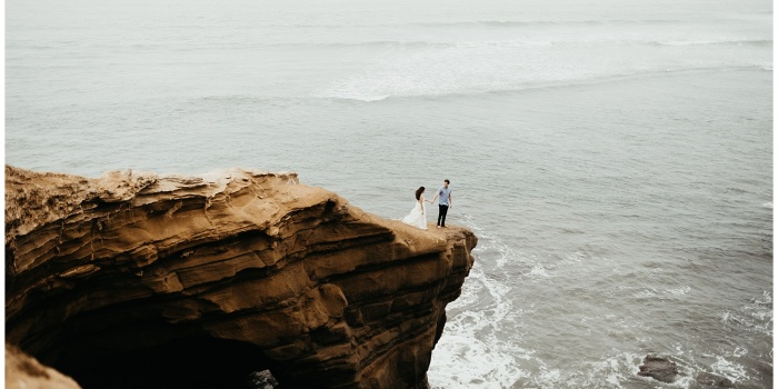 Chelsea and Connor, Engagement Session at Sunset Cliffs San Diego