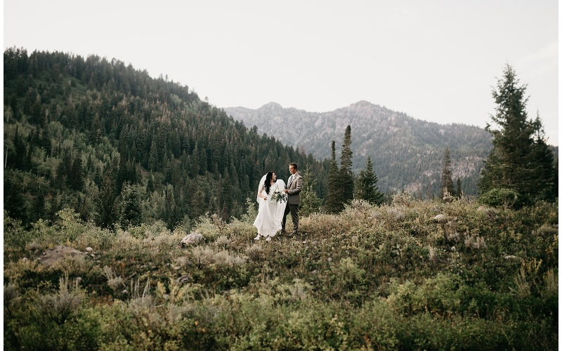 Kelsea and Austin, Tibble Fork Canyon First Look + Bridal Session
