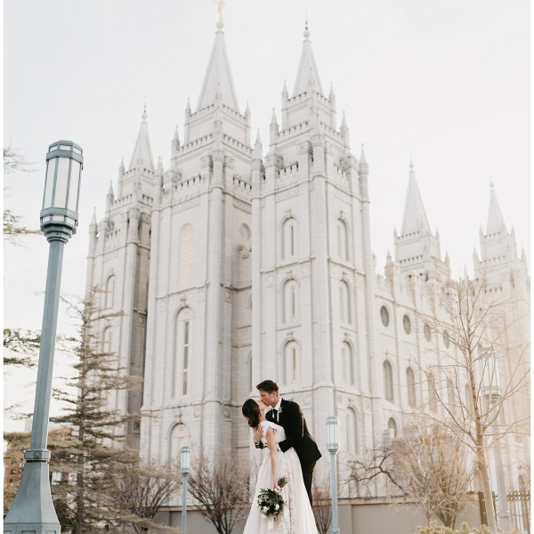 Jessica and Dallin, Salt Lake City Temple First Look + Bridal Session