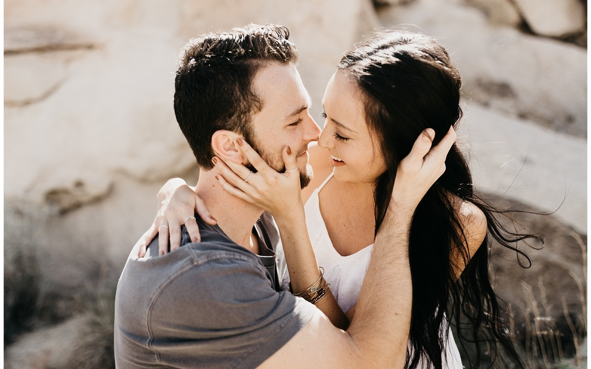 Caitlyn and Zac, Couple's Session in Joshua Tree California
