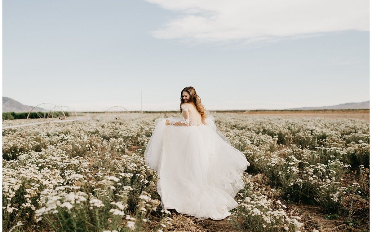 Springtime Bridals at the Lavender Fields