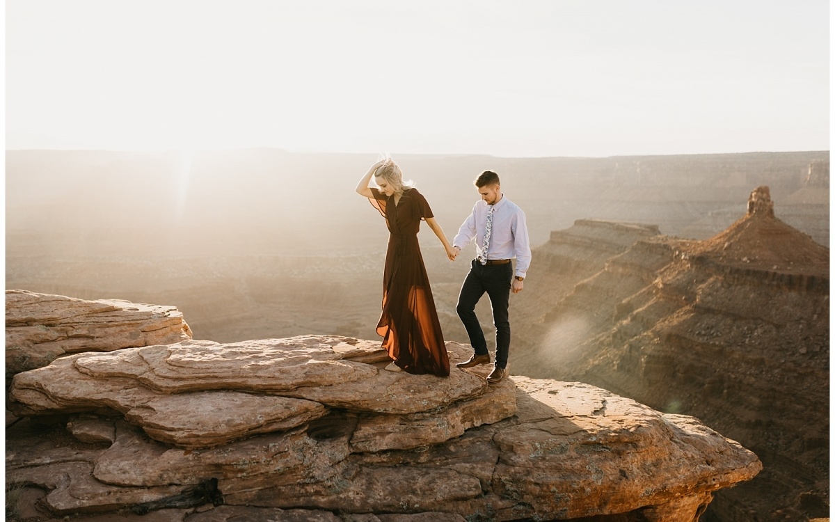 Paige and Austin, Adventure Engagements in Moab, Utah