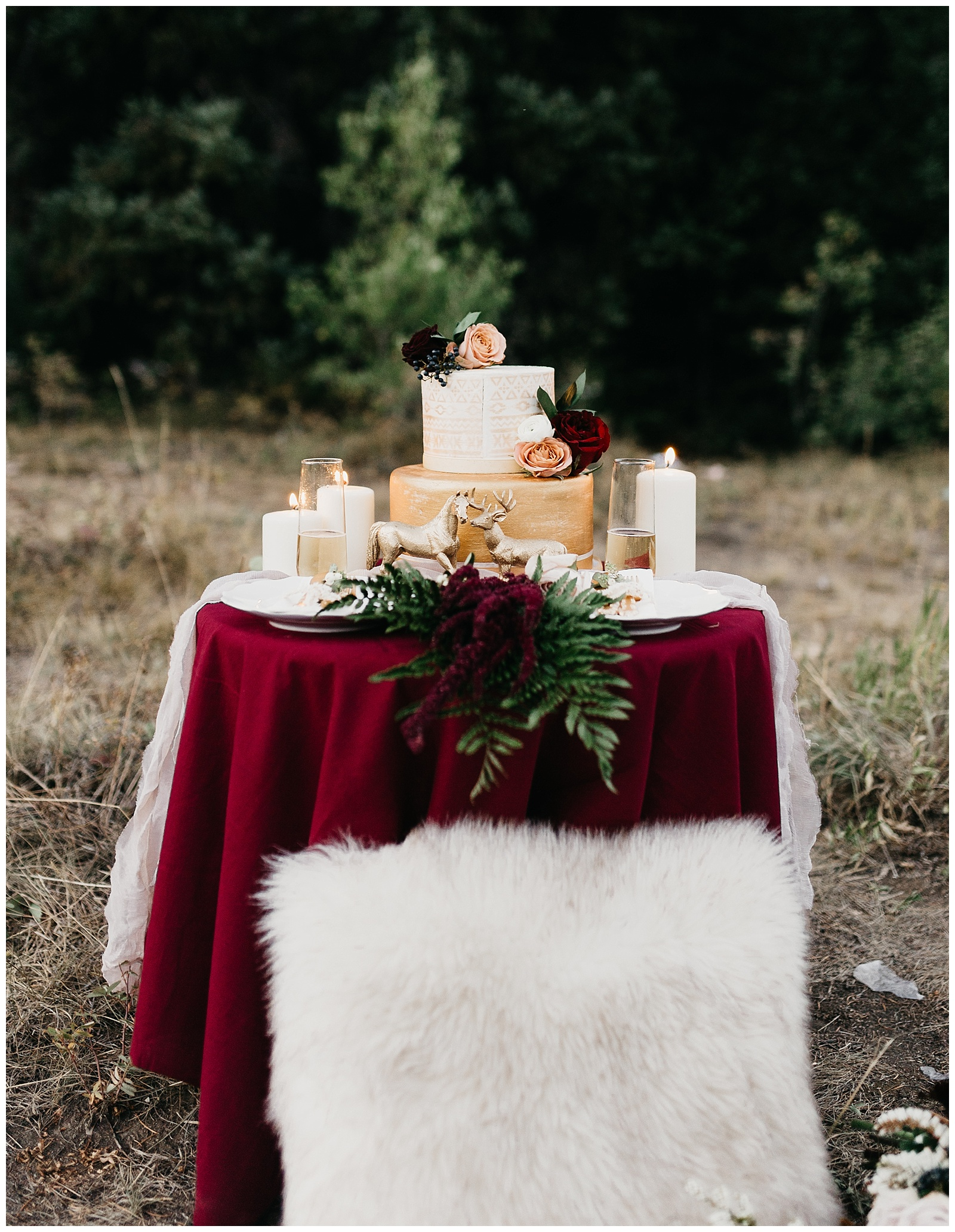 Bohemian table setting with Harry Potter details