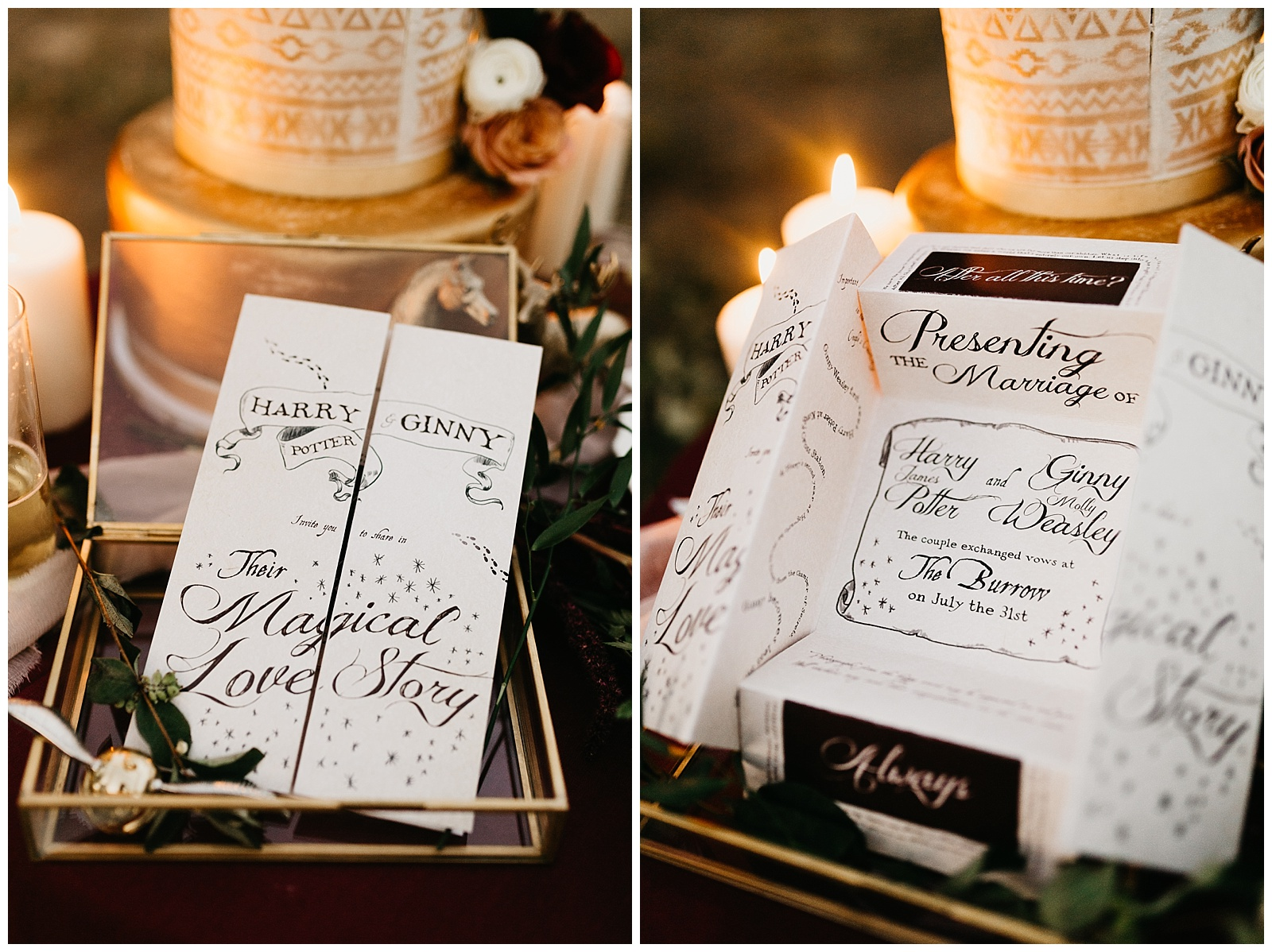 Harry Potter wedding invitations