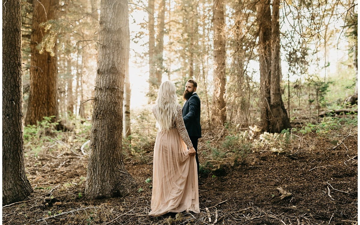 Golden Woods Anniversary Session in Payson Canyon, Utah | Tory + Bryce