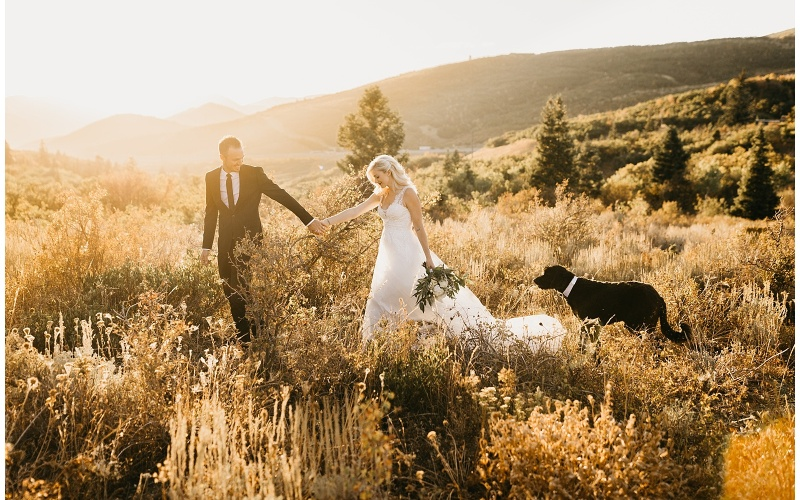Backyard Wedding in the Mountains | Park City Utah | Jessica + Chris