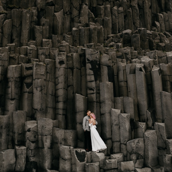 Iceland Elopement at Skókafoss + Black Sand Beach