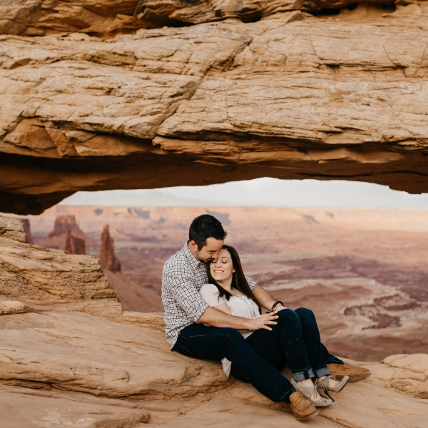 Canyonlands National Park Engagement Session | Moab, UT | Leslie + Kyle