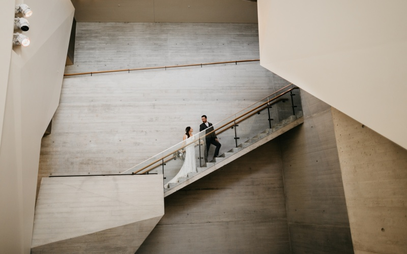 Natural History Museum of Utah Wedding | Modern + Minimalist | Leslie + Kyle